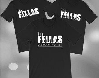 Groom Shirt - The Fellas Mens Wedding Tshirt Set of 3, Groomsmen Shirt, Groomsman Shirt Set, Bachelor Party Shirt, Wedding Gift