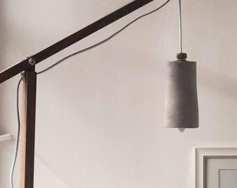 Burg's Oak, Maple & Concrete Hanging Table Lamp
