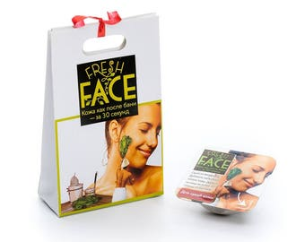Natural scrub Fresh Face for dry and normal skin (sample), 3g