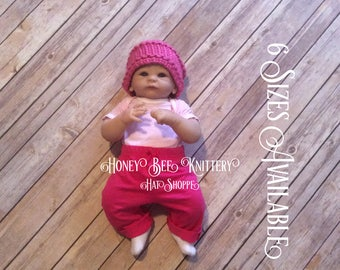 Basket Weave Hat - 6 Sizes Available; pink, bright, girl, girly   ***READY TO SHIP***