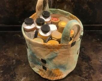 Small Round Canvas Storage Bag