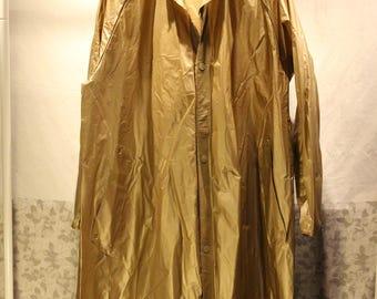 Vintage Trench Raincoat - Gold - Size M/L