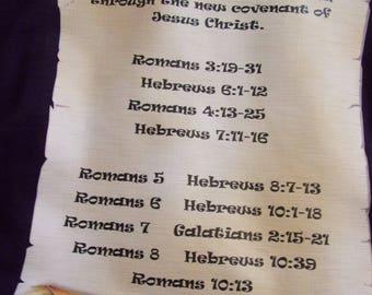 T shirt christian theme scroll design the gift of eternal salvation