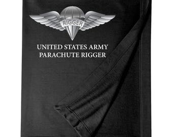 US Army Rigger Embroidered Blanket-7292