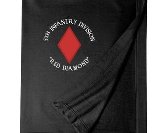 5th Infantry Division Embroidered Blanket-4050