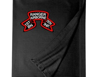 1/75th Ranger Battalion (Original Scroll)  Embroidered Blanket-3306