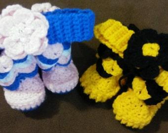 Crochet Boots and Headbands