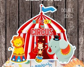 & Circus cake toppers | Etsy