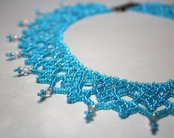 "Necklace,Jewelry,Blue Necklace,Necklace for her ,for her, beads, necklace from beads,blue,bijouterie, ""NecklaceByNadi"""