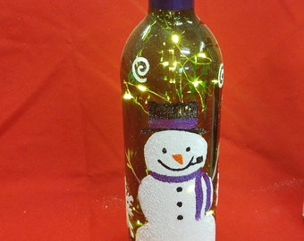 Handpainted Snowman Holiday Decor
