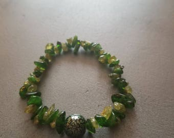 Peridot and Diopside bracelet