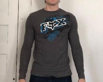 Mens (m) longsleeve fox shirt