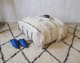 25%OFF**Large  Moroccan pouf 62x58x20 Tribal   pouf, Berber pouf,Floor pouf, Square Pouf,