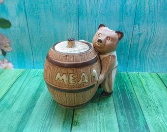 Pottery pot for honey Honey pot Lidded jar Honey jar Ceramic honey pot Pottery honey pot