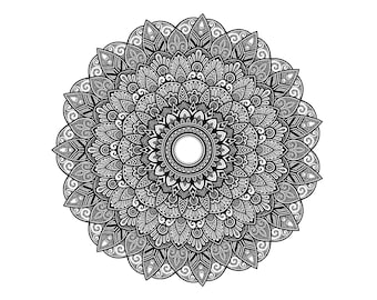 A6 Mandala greetings card M003