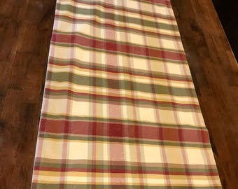 Reversible, soft backed, hand-made table runner