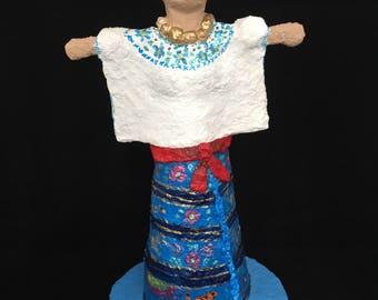 Acateca, paper mache figure