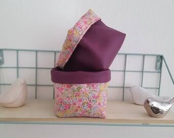 Set of 2 reversible baskets - gift idea - decoration idea