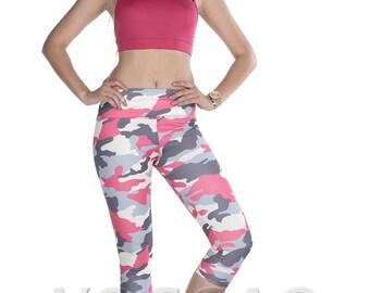 Women's High Waist Army Figure Yoga Pants
