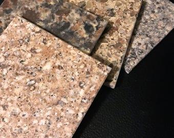 Brown Granite Coaster Set