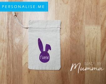 Mini Easter Bag, Easter Hunt Bag, Easter Bunny, Personalised Easter Bag