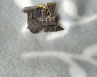 1998 Hallmark 25TH Anniversary Collecter Pin~ #3 ~ Locomotive Train Lapel Pin