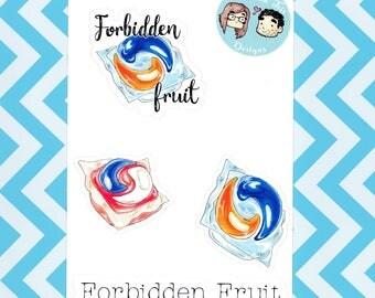 Forbidden Fruit Sticker Sheet
