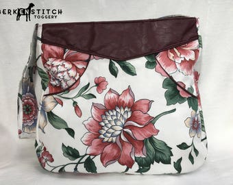Floral and Foux Leather Bag