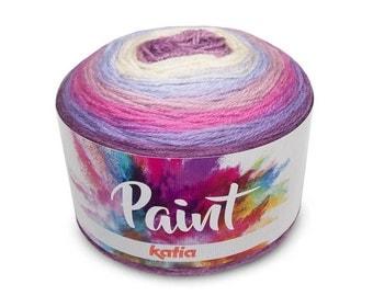 Multi Colored Yarn, Katia Yarn, Merino Yarn,  Knitting Yarn, Acrylic Yarn, Crochet Yarn, Crochet Supplies, Knitting Supplies,Variegated Yarn