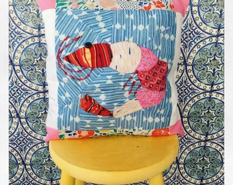 Quilted Prawn cushion