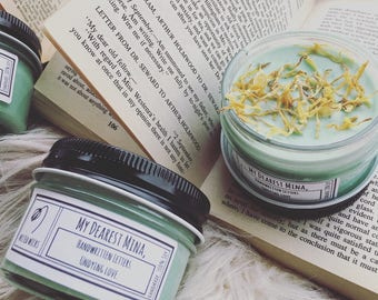 My Dearest Mina, - 4 oz Bookish Soy Candle - Dracula - Wilted Wicks