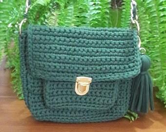 Green Color Bag Crochet Shoulder bag Crochet bag Bags Crochet Handbag Stylish Bag Handbag Handmade Bag
