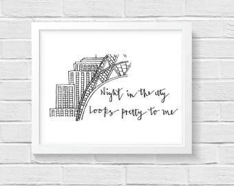 New York Lyrics Print - Joni Mitchell