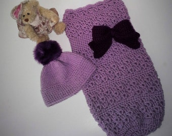Oh So Sweet Baby Cocoon and Hat Set