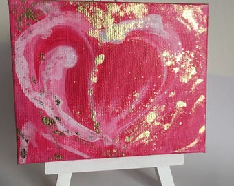 Abstract, heart with bronze powder