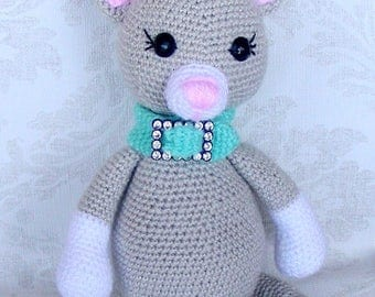 Crochet kitten  Amigurumi cat  Baby toy  handmade cat  crochet toy cat toy crochet kitty gift
