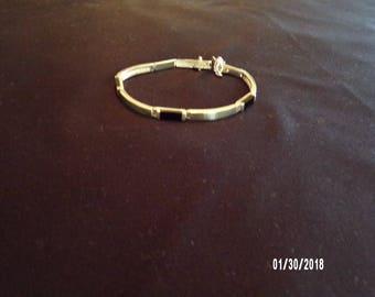 Onyx and Sterling Silver Bracelet