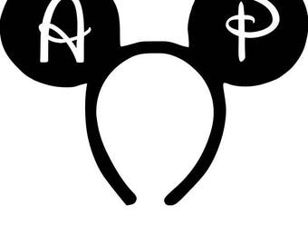Mouse Ears Annual Passholder Car Decal