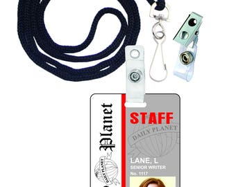 Lois Lane Daily Planet Press Pass Novelty ID Badge for Costume & Cosplay