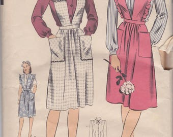 Vintage 1940s sewing pattern for jumper and blouse by Hollywood Four Star Patterns