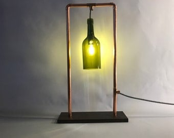 "Table Lamp-""Luz Encuadrado"" bottle lamp"