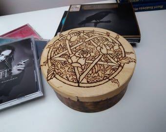 H.I.M wooden box.