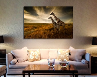 Giraffe Wall Art Giraffe Canvas Print Giraffe Large Wall Decor Giraffe Canvas Art Giraffe Painting Giraffe Poster Print Giraffe Home Decor