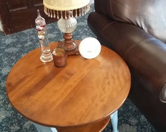 Vintage Ethan Allen Round 2-Tier Table circa 1960's