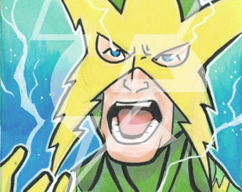 Electro Original Sketch Card