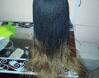 Handmade micro million twists braided wig