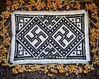Swastikas Patch -Traditional Embroidery-
