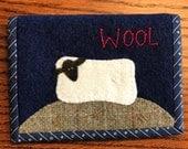 Kit; sweet wool sheep wallet/needle holder/card holder