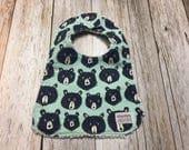 Baby Boy Bib in Blue Bear Fabric - Baby Shower Gift-Bab...