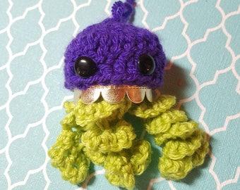 Crochet Jellyfish Amigurumi LED Lamp - Ready To Ship